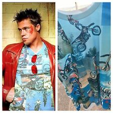 NEW Tyler Durden Fight Club Motocross Shirt Op 523 Moto Rare Size L Brad Pitt