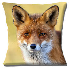 "NEW FOX PHOTO PRINT CLOSE UP HEAD MULTICOLOUR DESIGN 16""  Pillow Cushion Cover"