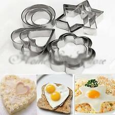Hot 12pcs Stainless Steel Cookie Cake DIY Mold Star Heart Fruit Cutter Shape J19