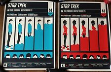 Star Trek The Trouble With Tribbles Olly Moss Mondo Set Spock Uhura #28 Set Rare