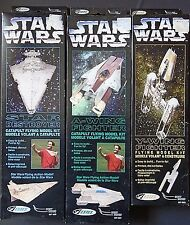 Star Wars Estes Catapult Flying Model Kits Lot of 3 Star Destroyer A-Wing Y-Wing