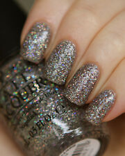 OPI ~MY VOICE IS A LITTLE NORSE~ Prismatic Gray Glitter Nail Polish Lacquer BN42
