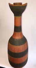 Enorme Aldo Londi Bitossi pavimento in ceramica vaso decanter + ORIG Legno Stopper 50cms