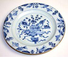 PORCELAIN BLUE PLATE. QUIANLONG. CHINA. XVIII-XIX.