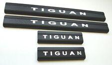 VW Tiguan Edelstahl Carbon STYLE Einstiegsleisten mit LOGO