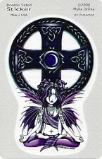 CELTIC LOTUS FAERY Fairy Sticker Car Decal Myka Jelina goth gothic pagan faerie