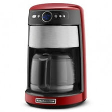 KitchenAid Kcm1402er 14-Cup Glass Caraf Coffee Maker Digital Red Stainless Steel