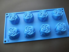 Silicone Mould 8 Cup Rose Pan/Tray/Soap-Sponge Cake Tin