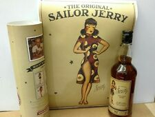 Sailor Jerry spiced rum bottle empty tube with a poster included
