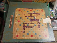Scrabble Turntable edition COMPLETE box & instructions VINTAGE wood tiles