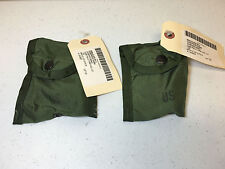 LOT OF 2 MILITARY ISSUED COMPASS / FIRST AID POUCHES OD GREEN ALICE LC-1 NWT