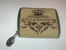 Juicy Couture zipper wallet brown khaki