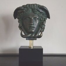 "Medusa Bust Head Sculpture in Bronze finish 11"" Greek Roman Replica Reproduction"