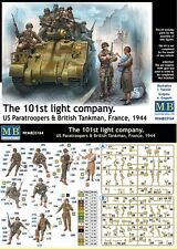 a Master Box 35164 - US Paratroopers and British Tankman (France, 1944)   (1/35)