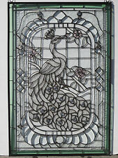 Stained Glass Window - Peacock -- NEW  #65