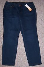 JAG JEANS Blue Denim Mid-Rise Skinny Jeans Size 20W Inseam 31 NWT