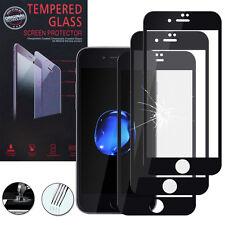 """3 Films Verre Trempe Protecteur Protection NOIR pour Apple iPhone 7 Plus 5.5"""""""