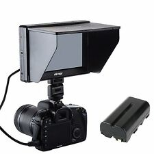7'' Viltrox 1280*800 HDMI AV LCD Monitor + Battery for Canon 70D 60d 7d 700D 5D3