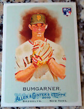 MADISON BUMGARNER 2010 Topps Allen & Ginter Rookie Card RC San Francisco Giants