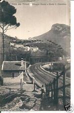 cm 002 1915 CAVA DEI TIRRENI (Salerno)Casello ferrovia Villaggio Marini viagg FP