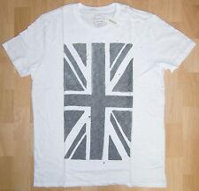 Aeropostale Aero Herren T-Shirt Weiß Union Jack Brexit Gr. L *NEU mit Etikett*