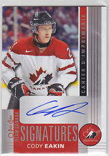 2013 13-14 O-Pee-Chee Team Canada Signatures #TCCE Cody Eakin Level E