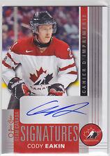 2013 13-14 O-Pee-Chee Team Canada Signatures #TCCE Cody Eakin Level E