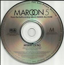 MAROON 5 Misery Ultra Rare 2010 USA PROMO Radio DJ CD single MINT
