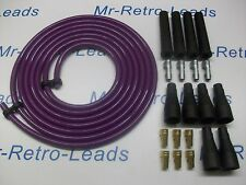 PURPLE 8MM PERFORMANCE IGNITION LEAD KIT CABLE FOR THE 4 CLY 3 METERS KIT CAR HT