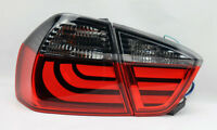 Red Smoke LED Light Bar Tail Lights Pair RH LH FITS BMW 3 Series 06-08 E90 4Dr