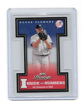2003 Prestige SSP /22 ROGER CLEMENS!!! Inside the Numbers IN-1 New York Yankees