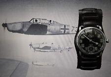 HELVETIA 2.WK MILITARY DEUTSCHE REICHSLUFTWAFFE PILOTEN DIENST ARMBANDUHR 1935