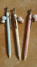 New 3pcs blue white Pink dangle Hello Kitty 0.5mm Mechanical Pencil