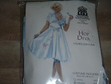 Light Blue Poodle Sexy Car Hop Diva 50s Marilyn Grease Womens Adult Costume
