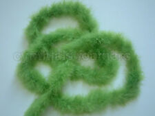 "75g Lime Green marabou feather boa 2"" Wide 10 Yard Long, Cynthia's Feathers"