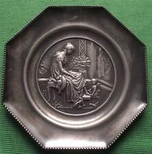 c1900 WMF Maiden Cupid Relief  Pewter Card / Pin Tray