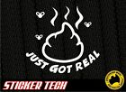SH!T JUST GOT REAL STICKER DECAL MADE TO SUIT HSV V8 XR8 SKYLINE R35 R34 ROTARY