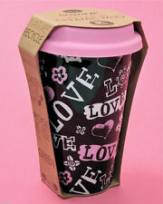 Eco-one LOVE Coffee Tea Pink Travel Cup Mug Tall 10 Ounce NEW Valentines