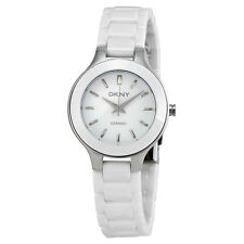 DKNY White Dial White Ceramic Ladies Watch NY4886
