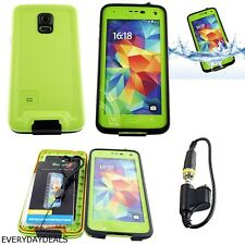 ATOMIC WATERPROOF SHOCKPROOF DIRT SNOW PROOF CASE GREEN FOR SAMSUNG GALAXY S5