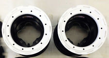 "DWT G2 White Rear Beadlock Wheels Rims 9"" 9x8 3+5 4/110 Honda TRX 450R LTR450"