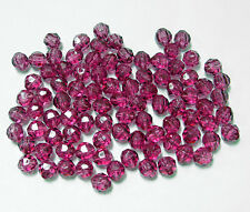 8mm Mauve Round Faceted Acrylic Beads 500 piece bag