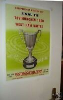 1965 Cup Winners Cup Poster of Programme West Ham TSV