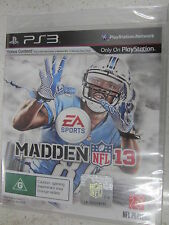 EA Sports Madden NFL 13 Football 13 PS3 Brand New and Sealed