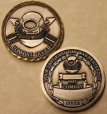 Special Operations Combat Diver Army Challenge Coin   V2