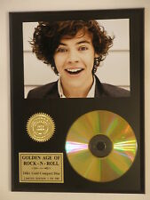 One Direction Harry Styles 24k Gold CD Display Limited Edition - USA Ships Free