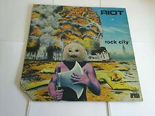 Riot - Rock City UK 1978 Ariola 1st Press LP EX/VG