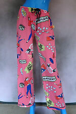 Going To The Movies Womens Pajama Bottoms M 9 10 12 Lounge Pants Slumber Party