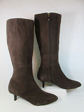 Rockport LILAH Leather Knee High Fashion Boot w/Kitten Heels Brown Sz 11-M