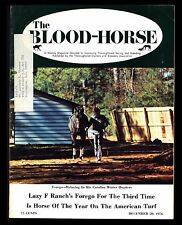 """VINTAGE 1976 """"BLOOD-HORSE MAGAZINE"""" (DEC 20) """"FOREGO, HORSE OF THE YEAR"""""""